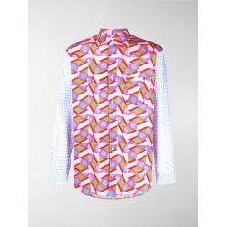 Comme Des Garçons Shirt mixed-print cotton shirt found on MODAPINS from stefania mode for USD $283.00