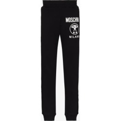 Moschino Mens Black Double Question Mark Logo Track Pants found on Bargain Bro UK from Browns Fashion