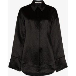 Acne Studios Womens Black Oversized Satin Shirt found on Bargain Bro UK from Browns Fashion