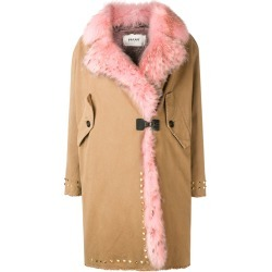 Bazar Deluxe trimmed mid-length coat - Neutrals found on MODAPINS from FarFetch.com - US for USD $891.00