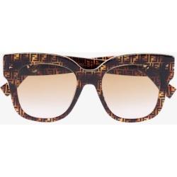 Fendi Eyewear Womens Brown Ff Motif Oversized-frame Sunglasses found on Bargain Bro UK from Browns Fashion
