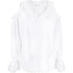 Ermanno Scervino embroidered trim cold shoulder blouse found on Bargain Bro UK from Eraldo