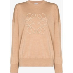 Loewe Womens Neutrals Loewe Womens Neutrals Knt Swtr Cn Ls Rope Frnt Anagram L found on Bargain Bro UK from Browns Fashion