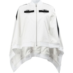 Anrealage embroidered detail cape-style bomber jacket - White found on MODAPINS from FarFetch.com- UK for USD $620.35