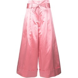 Adam Lippes cropped tie-waist trousers - Pink found on MODAPINS from FarFetch.com- UK for USD $1631.87