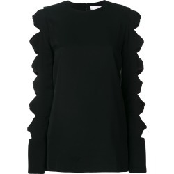 Victoria Victoria Beckham cut out sleeve top - Black