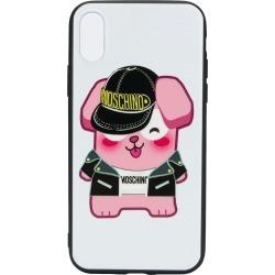Moschino logo iPhone X case - White
