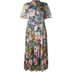 Aspesi floral print pleated shirt dress - Pink found on MODAPINS from FarFetch.com - US for USD $1180.00