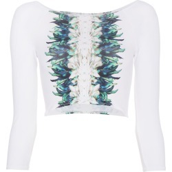 Belusso feather print swim top - White found on MODAPINS from FarFetch.com- UK for USD $74.77