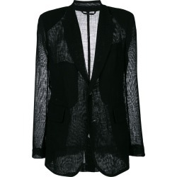 Ann Demeulemeester sheer panel blazer - Black found on MODAPINS from FarFetch.com - US for USD $777.00
