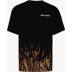 Palm Angels Mens Black Tiger Flames T-shirt found on Bargain Bro UK from Browns Fashion