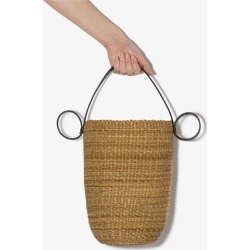 Inès Bressand Womens Neutrals Neutral Tall Round Straw Bucket Bag found on MODAPINS from Browns Fashion for USD $286.06