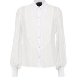 Andrea Bogosian sheer silk shirt - White found on MODAPINS from FarFetch.com- UK for USD $428.03