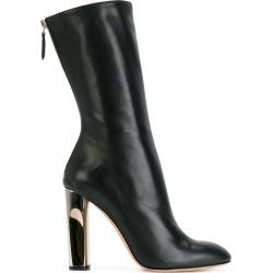 Alexander McQueen sculpted heel fitted boots - Black found on Bargain Bro UK from FarFetch.com- UK