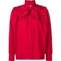 Alexa Chung bow detail ruffle trim shirt - Red found on MODAPINS from FarFetch.com- UK for USD $337.73