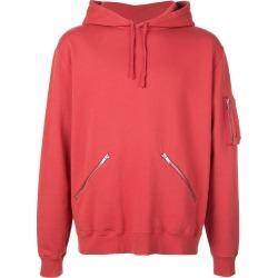 Saint Laurent zip detail hoodie - Red found on Bargain Bro UK from FarFetch.com- UK