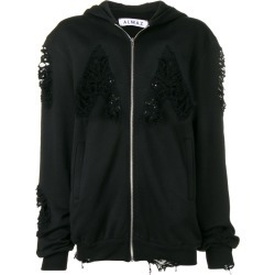 Almaz distressed hoodie - Black found on MODAPINS from FarFetch.com- UK for USD $535.66