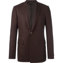 Givenchy - patterned button front blazer - men - Cotton/Polyester/Viscose/Wool - 46, Brown