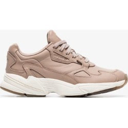 Adidas nude Falcon low top leather sneakers found on Bargain Bro UK from Browns Fashion for $138.50