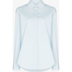 Area Womens Blue Crystal Trim Blouse found on MODAPINS from Browns Fashion for USD $613.13
