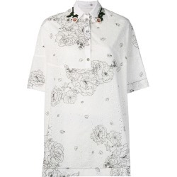Antonio Marras floral print oversized shirt - White found on MODAPINS from FarFetch.com- UK for USD $934.26