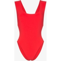 Araks red Jireh scoop neck cutout swimsuit found on MODAPINS from Browns Fashion for USD $270.70