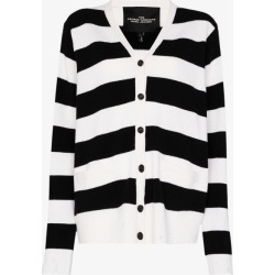 The Marc Jacobs Womens Black Grunge Striped Wool Cardigan found on Bargain Bro UK from Browns Fashion