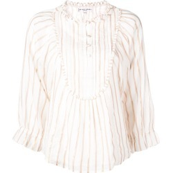 Apiece Apart striped blouse top - White found on MODAPINS from FarFetch.com- UK for USD $509.07