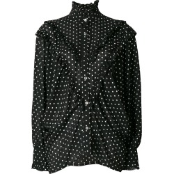 Alexa Chung polka dot batwing ruffle blouse - Black found on MODAPINS from FarFetch.com - US for USD $191.00