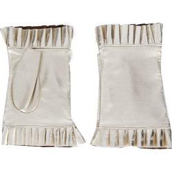 Gala Gloves frilled fingerless gloves - Gold