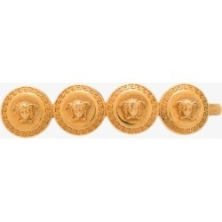 Versace Womens Metallic Gold Tone Medusa Tribute Hair Clip found on Bargain Bro UK from Browns Fashion