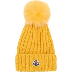 2646f5a4344 Moncler bobble top beanie - Yellow found on MODAPINS from FarFetch.com- UK  for