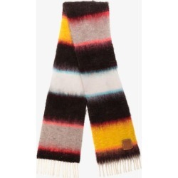 Loewe Womens Brown Multicoloured Stripe Knit Scarf found on Bargain Bro UK from Browns Fashion