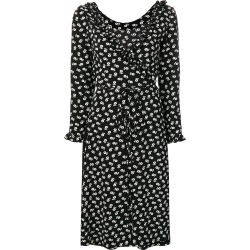 Alexa Chung floral print wrap dress - Black found on MODAPINS from FARFETCH.COM Australia for USD $291.14