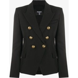 Balmain Womens Black Double-breasted Wool Blazer found on Bargain Bro UK from Browns Fashion
