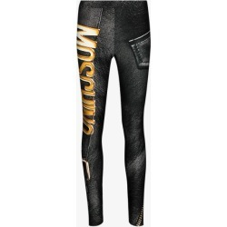 Moschino Womens Black Biker-style Graphic-print Leggings found on Bargain Bro UK from Browns Fashion