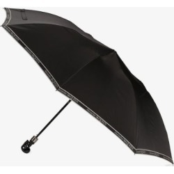 Alexander McQueen black skull handle logo print umbrella found on Bargain Bro UK from Browns Fashion
