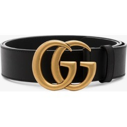 Gucci Mens Brown, Black And Gold Leather Brown Marmont Gg Logo Belt, Size: 100cm found on Bargain Bro UK from Browns Fashion