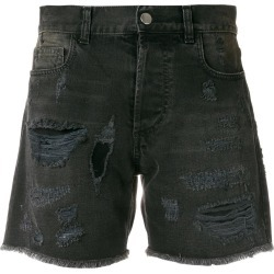 Faith Connexion distressed denim shorts - Black found on Bargain Bro UK from FarFetch.com- UK