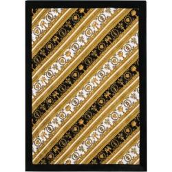 Versace Womens Black Baroque-print Beach Towel found on Bargain Bro UK from Browns Fashion