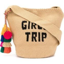 Soraya Hennessy Girls Trip Mochila woven bucket bag - Brown found on Bargain Bro UK from FarFetch.com- UK for $372.69