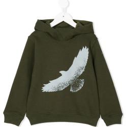 Il Gufo eagle print hoodie - Green