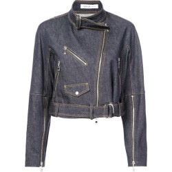 Adeam cropped biker jacket - Blue found on MODAPINS from FarFetch.com- UK for USD $1201.30