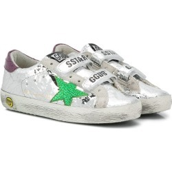 Golden Goose Kids distressed Superstar sneakers - Silver found on Bargain Bro UK from FarFetch.com- UK