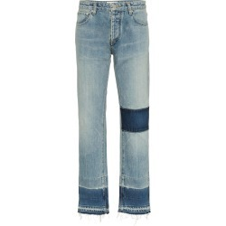 Ambush mid rise patchwork straight jeans - Blue found on MODAPINS from FarFetch.com- UK for USD $436.84
