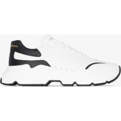 Dolce & Gabbana Mens White Daymaster Leather Sneakers found on Bargain Bro UK from Browns Fashion