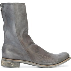 A Diciannoveventitre Kangaroo distressed boots - Grey found on MODAPINS from FARFETCH.COM Australia for USD $3419.74