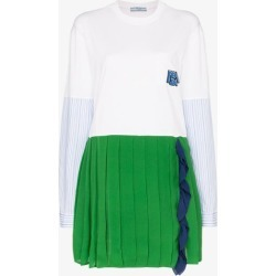 Prada contrasting pleated skirt dress found on MODAPINS from Browns Fashion US for USD $1560.00