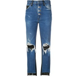 Amiri cropped flared jeans - Blue found on MODAPINS from FarFetch.com- UK for USD $1557.26