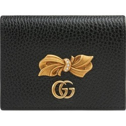 Gucci Leather card case with bow - Black found on Bargain Bro Philippines from FarFetch.com - US for $470.00